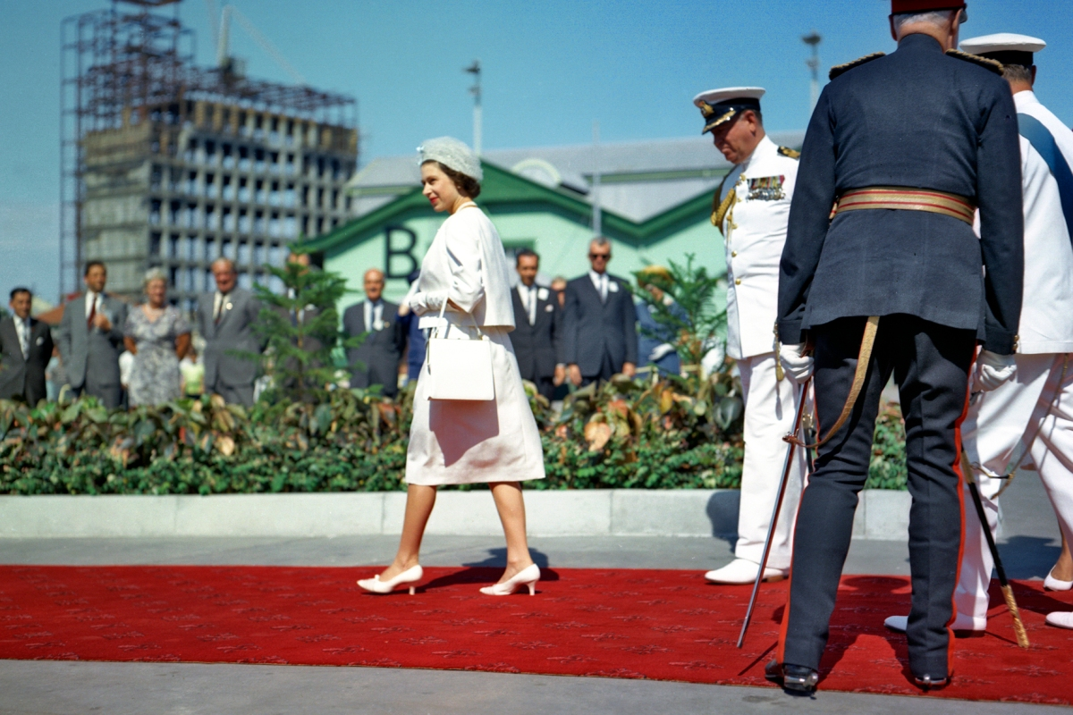 1963 - HM The Queen and the Duke of Edinburgh arrive at Victoria Quay on the royal yacht Britannia credit Fremantle Ports